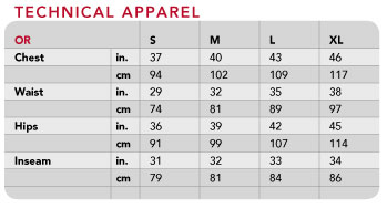 Xl apparel s-xl sizing chart